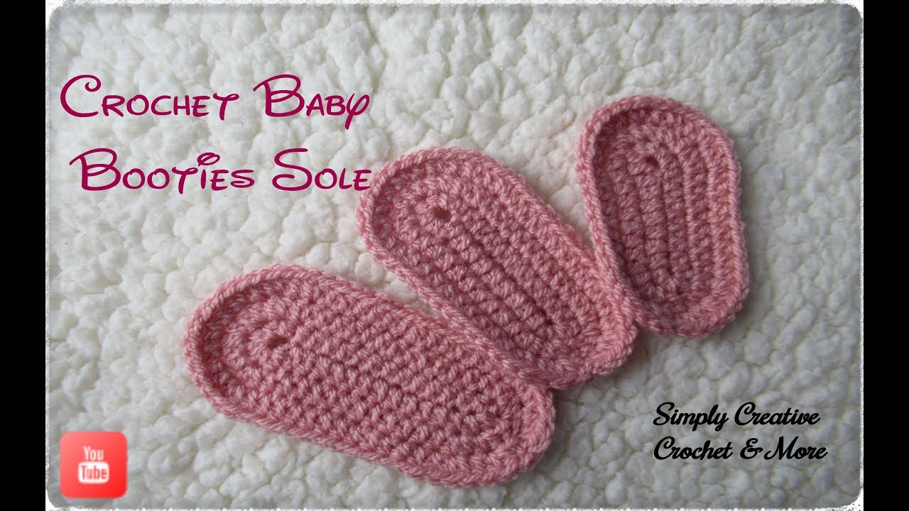 Crochet Baby Bootie Sole   size from 0