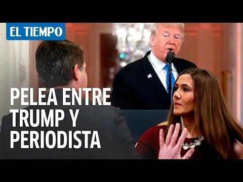 """""""Eres una persona terrible y maleducada"""", el duro enfrentamiento de Trump con un periodista"""