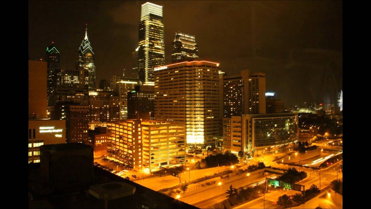 philadelphia skyline sunset and night time lapse youtube. Black Bedroom Furniture Sets. Home Design Ideas