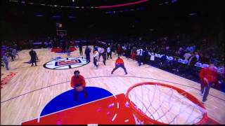Deandre Jordan wrist flick brick free throw practice prior to Clippers Hornets game