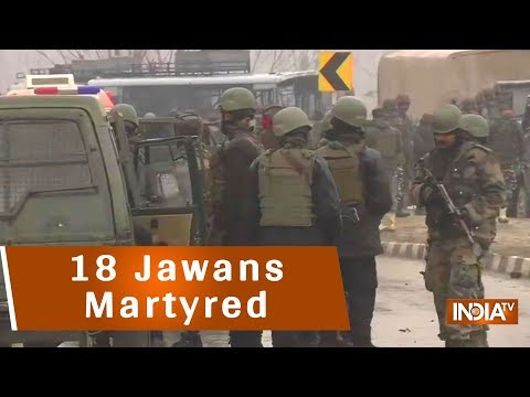 18 Jawans Martyred In An Attack On CRPF Bus In Pulwama, Jaish-e-Mohammed Claims Responsibility
