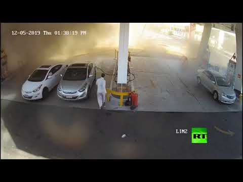 لحظة انفجار خزان محطة للتزود بالوقود في السعودية  - نشر قبل 2 ساعة