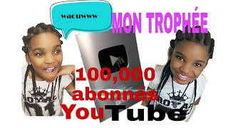 MON TROPHÉ YOUTUBE #TRACY ISAKO#