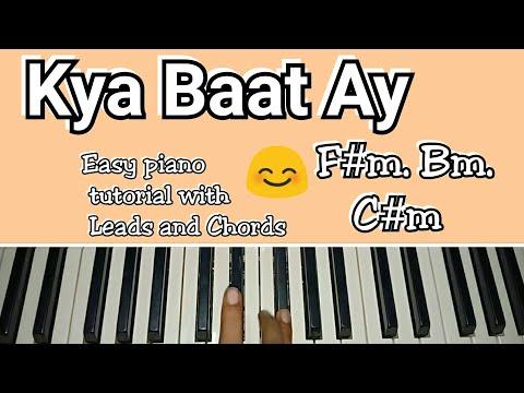 KYA BAAT AY   Easy Piano Tutorial with Chords and Leads – Harrdy Sandhu   Jaani   B Praak   Arvindr