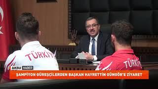 Gambar cover Şampiyon Güreşçilerden Başkan Güngör'e Ziyaret