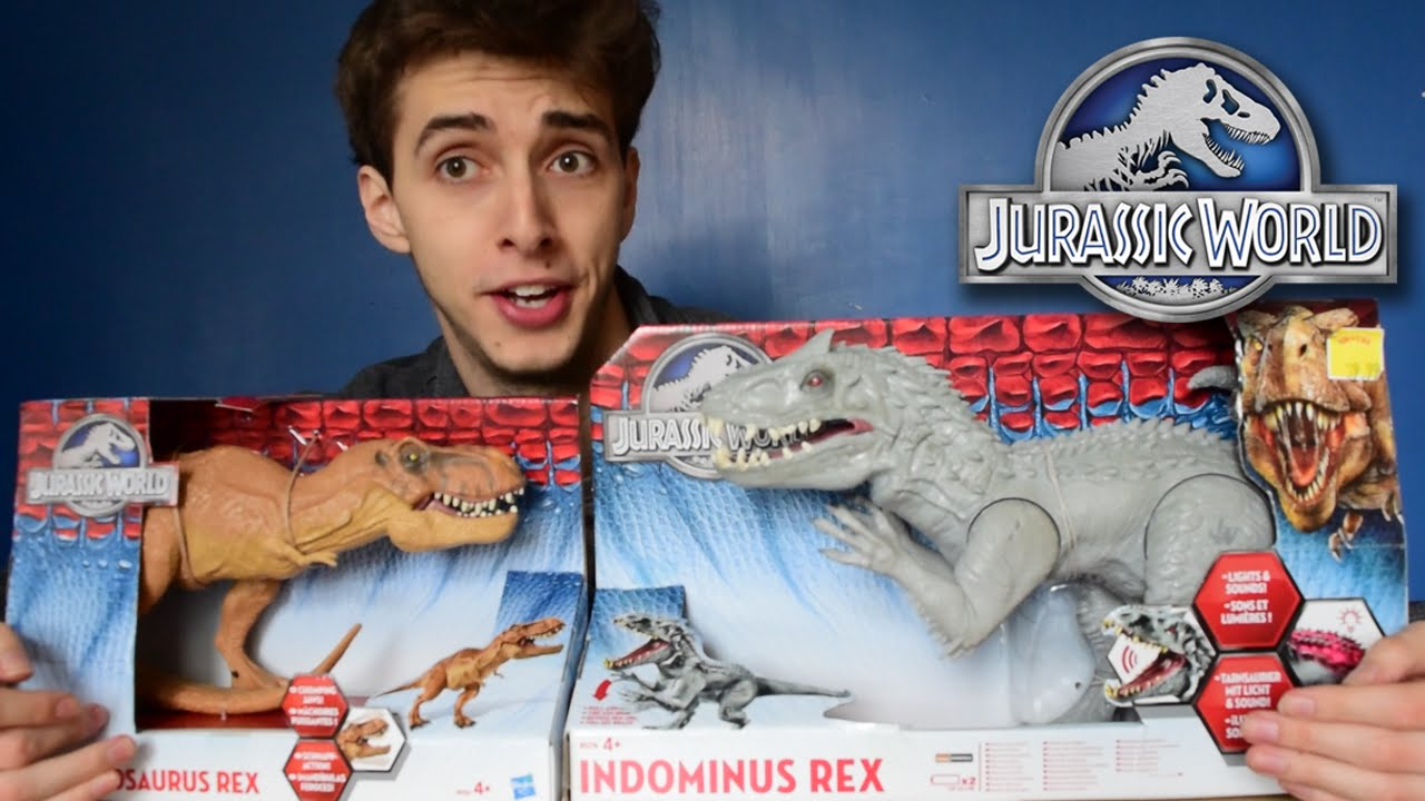 Indominus Vs T Rex Hasbro Review And Unboxing Youtube