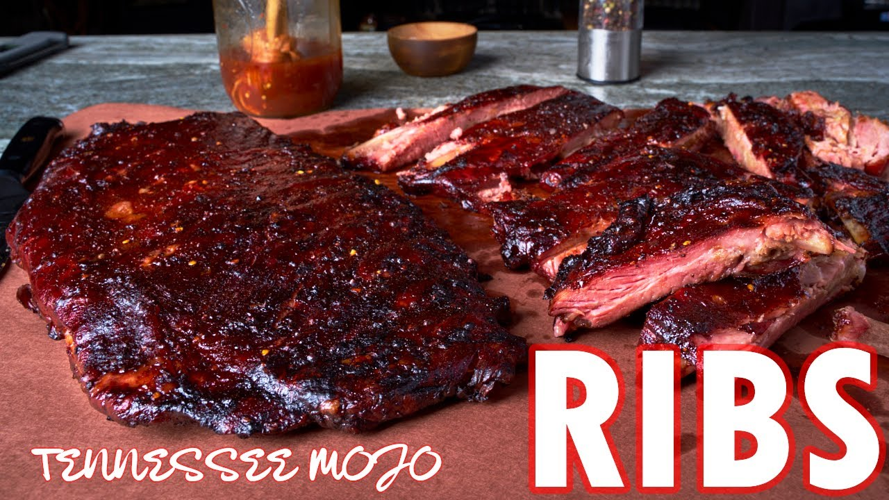 Smoked Pork Spare Ribs | BBQ Ribs with Vinegar Mop Sauce | On The Outlaw Smoker