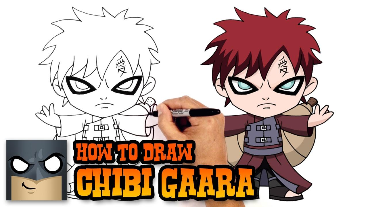How to Draw Gaara | Naruto - YouTube Gaara And Naruto Kids