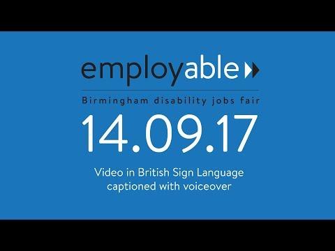 Birmingham Disability Jobs Fair - September 2017