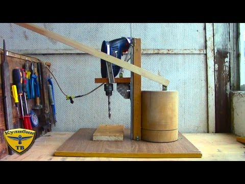 Как сделать сверлильный станок / Homemade Drill Press