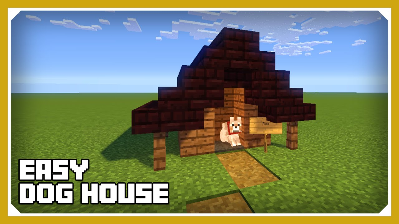 Minecraft How To Build A Dog House Kennel Tutorial Easy