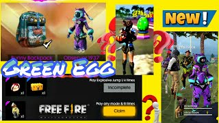 Green egg Free Fire || How To Collect Bunny Royal Voucher And Compton Missons