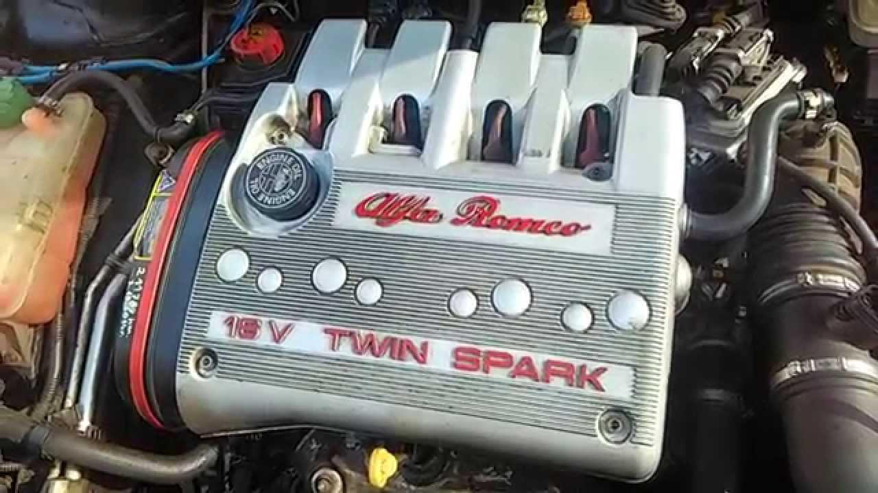 Alfa Romeo 156 TS 1.6 coldstart - timing belt and variator changed