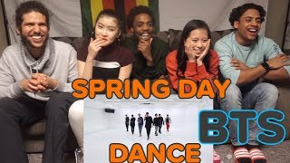 CHOREOGRAPHY BTS   Spring Day Dance Practice  REACTION