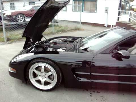 1998 C5 CORVETTE LOWERED HRE 20 INCH WHEELS BLACKED OUT