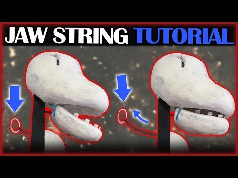 Pull String Puppet Jaw Tutorial!