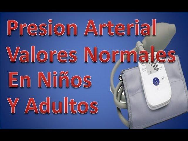 Presión arterial valores normales pediatría
