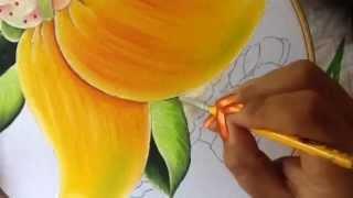 Pintura em tecido – Menina manga parte 4