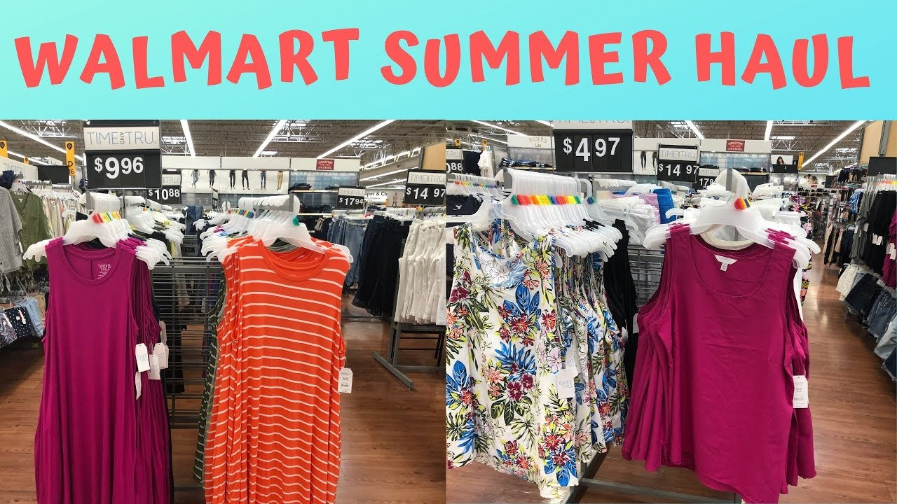 a07f278ac13 WALMART CLOTHING HAUL and TRY-ON | SUMMER 2019 - YouTube