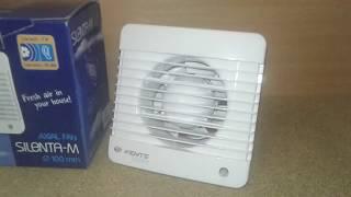 Обзор, тест и подключение вытяжного малошумного вентилятор Вентс 100 Силента-МЛ.