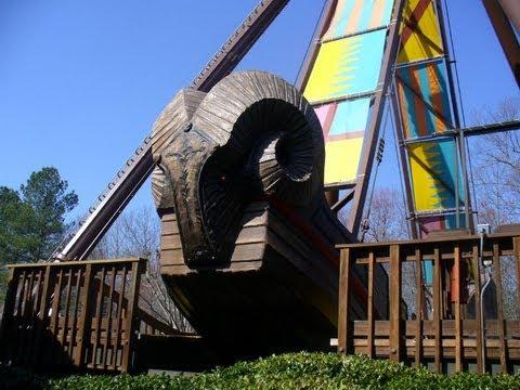 The Battering Ram Off-Ride HD Busch Gardens Williamsburg