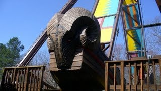 The Battering Ram Off-Ride HD Busch Gardens Williamsburg