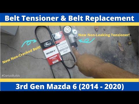 DIY Drive Belt Tensioner & Drive Belt Replacement   3rd Gen Mazda 6   2014-2020   Basic Hand Tools