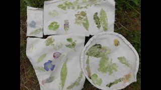 Leaf Printing on Earth Day.