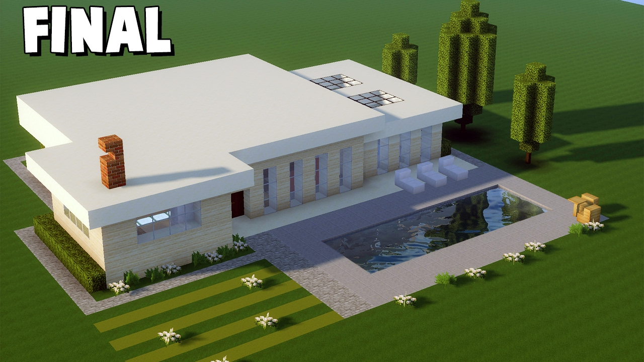 Minecraft tutorial casa moderna grande 331 final for Tutorial casa moderna grande minecraft