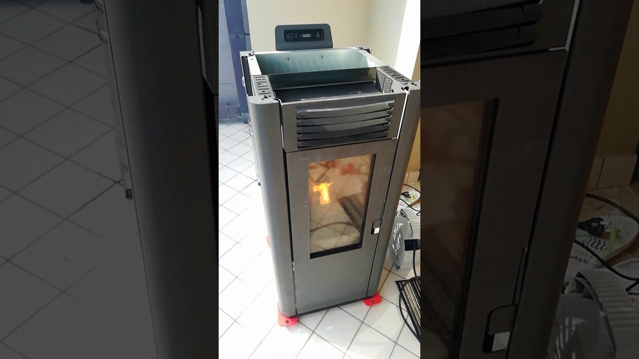 abbattitore fumi stufa pellet stove accensione youtube