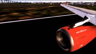 FSX [HD] FDNY Livery (N615JB) JetBlue A320 Takeoff From LaGuardia Airport!