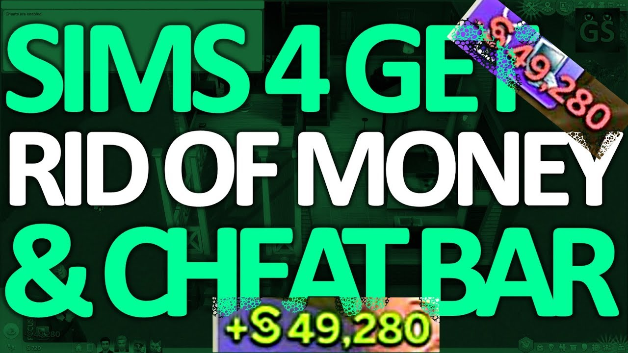 Sims 4 - How to get rid of Money & remove Cheat Bar
