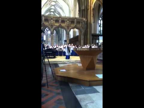 England: Singing in Bristol Cathedral