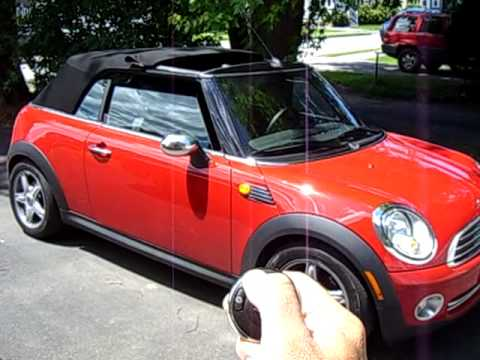 2009 mini cooper convertible remote top operation youtube. Black Bedroom Furniture Sets. Home Design Ideas