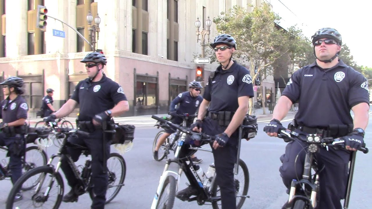 Universal Protection Services spy on protests downtown L.A. - YouTube