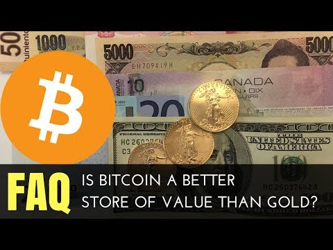 Is Bitcoin A Better Store of Value Than Gold?