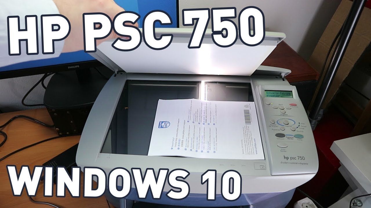 Hp Psc 750 All In One With Windows 10 Printer Scanner Fax