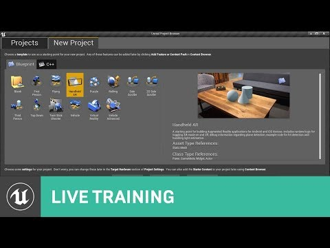 Getting Started with the AR Template | Live Training | Unreal Engine Livestream