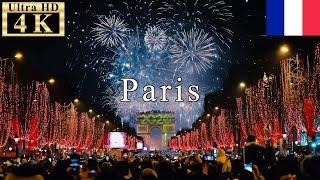 🇫🇷Paris New Year Countdown 2020【4K 60fps】