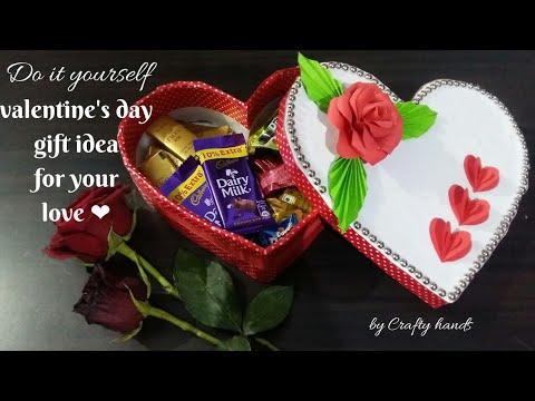 DIY heart shaped box || valentine's day gift idea | cardboard craft ideas