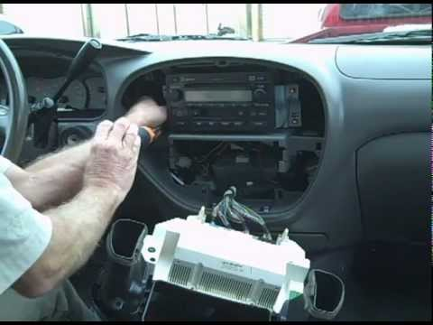 2005 Tundra Stereo Wiring Diagram Toyota Sequoia Car Stereo Amp Removal And Repair Youtube