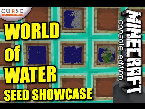 MINECRAFT - PS4 - WORLD OF WATER SEED SHOWCASE ( PS3 / XBOX  ) TU19 UPDATE