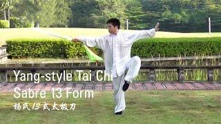yang style tai chi sabre 13 form 杨氏13式太极刀