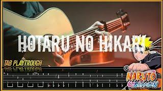 Naruto shippuden op 5 - HOTARU NO HIKARI - Fingerstyle TAB PLAYTROUGH