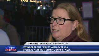 Wrapping up Day 1 of the inaugural Wonderfront Music and Arts Festival