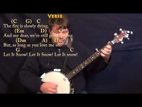 Let It Snow! - Banjo Cover Lesson in C with Chords/Lyrics