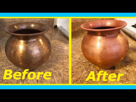 #usefullkitchentip How to clean copper pooja lota or drink ware pot at home