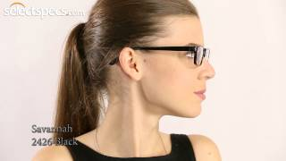 Savannah 2426 Black Prescription Glasses for Ladies