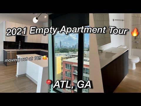2021 Empty Apartment Tour !! | Moving out at 18 |📍Atlanta, GA | Alyssa Howard 💗
