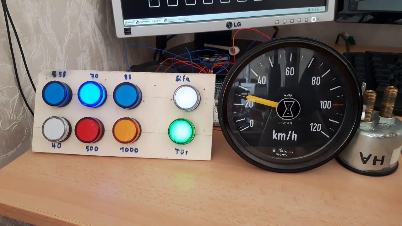 Zusi Fahrpult: PZB 90 und Deuta Tacho mit Arduino Mega über TCP / Ethernet
